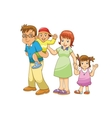 family cartoon vector image