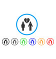 family divorce rounded icon vector image vector image