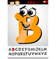 funny letter b cartoon vector image