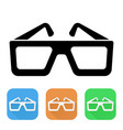 Glasses colored icons