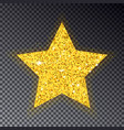 gold christmas star big golden star for fir tree vector image
