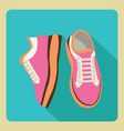 gym sneakers on side and front view over isolated vector image vector image