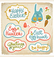 happy easter decorative elements vector image vector image