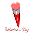 heart shaped pencil valentine day vector image