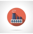 Heavy industry round flat icon vector image vector image