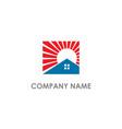 home realty shine company logo vector image vector image