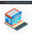 isometric barber shop building vector image vector image