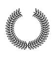 laurel wreaths round for emblem floral vector image vector image