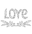 love lettering hand drawn vector image vector image