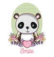 lovely panda cartoon vector image