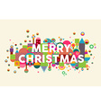 Merry christmas colorful abstract greeting card vector image vector image