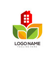 modern real estate template logo and icon vector image