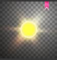 modern sun set on sample background vector image