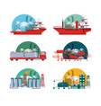 oil industry with refinery plant vector image