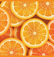 orange slice background for summer vector image vector image