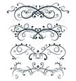 ornamental divider decorative filigree design vector image vector image