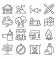 Outdoor recreation activities icon set