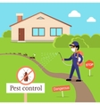 Pest Control Concept In Flat Style Design vector image