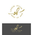 s f handdrawn brush monogram calligraphy logo vector image vector image