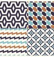 seamless abstract geometric textile background vector image vector image