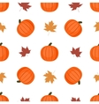 Seamless background with pumpkins and autumn