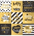 Set of beautiful birthday invitation cards vector image vector image