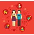 Set of family planning and vacation infographic vector image vector image