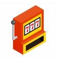 Slot machine jackpot isometric 3d icon vector image