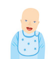 smiling baby boy with apron vector image vector image