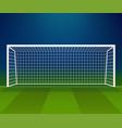 soccer goal football goalpost with net vector image vector image
