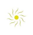 sun element icon logo symbol vector image vector image