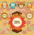 super sale extra bonus autumn banners text label vector image