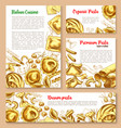 templates set for pasta of italian cuisine vector image vector image