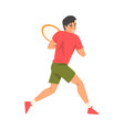 tennis player with racket athlete character in vector image vector image