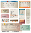 Tickets set vector | Price: 3 Credits (USD $3)