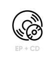 vinyl ep plus cd records icon vector image vector image