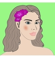 Virgo beautiful girl portrait vector image