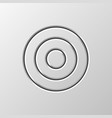 white abstract circle button template vector image vector image