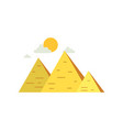 egypt great pyramids sign of traditional egyptian vector image