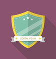 Shield flat style badge icon vector image