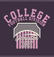 college football division vector image