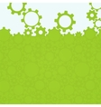 Abstract simple green gear background vector image