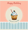 Birthday greeting card template with watercolor vector image