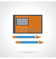 Drawing flat icon vector image
