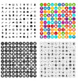100 oppression icons set variant vector image vector image