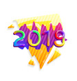 2019 new year abstract festive background vector image