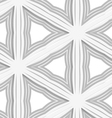 3D white striped triangles with gray vector image vector image