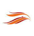 abstract eagle flames head symbol design vector image