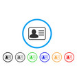 account card rounded icon vector image vector image