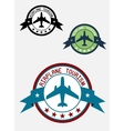 Airplane tour logo vector image